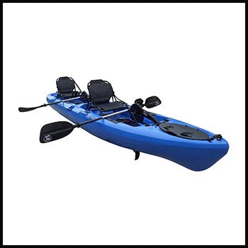 BKC-PK14-14-Tandem-Sit-On-Top-Pedal-Drive-Kayak