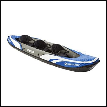 Sevylor Big Basin 3 Person inflatable tandem kayak ocean