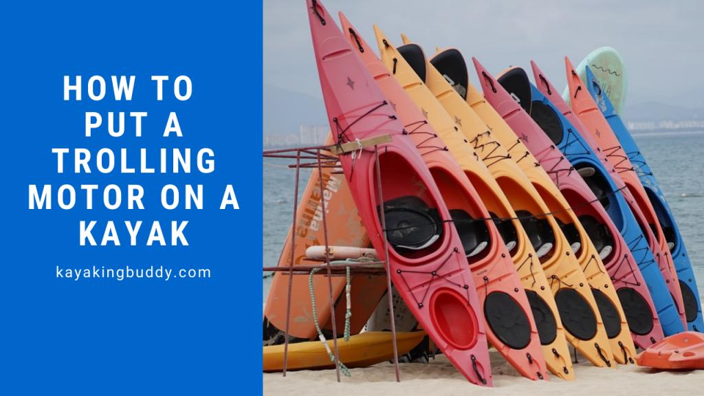 install trolling motor in kayak